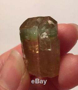 11.3 Gram Bi Color Pink Green Tourmaline Crystal Brazil