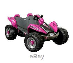 12V Power Wheels Dune Racer Extreme Battery-Powered Ride-On Pink or Green