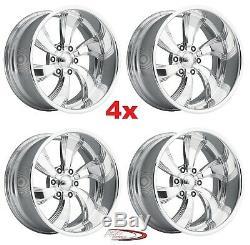 17 Pro Wheels Twisted Killer 6 Rims Custom Forged Billet Aluminum Foose Intro