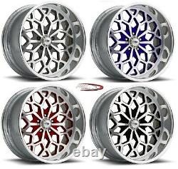 18 Pro Wheels Rims Snowflake Rose Gold Year Forged Billet Aluminum One Line
