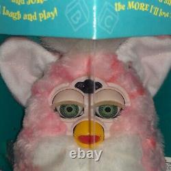 1999 Furby Baby Pink Coral Furby With Green Eyes Nib