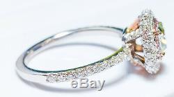 1.31ct Light Green, Argyle 6pp Intense Pink Diamond Engagement Ring GIA 18K VS1