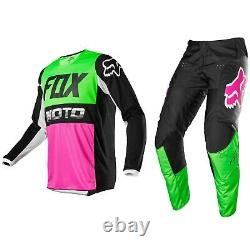 2020 Fox Racing 180 Motocross MX Bike Kit Pants Jersey Fyce Mul Green / Pink