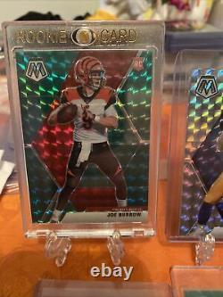 2020 Justin Herbert /Tua / Joe B Mosaic Prizm RC Silver, Pink, Green, Orange, Blue