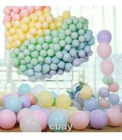 20 Pastel Coloured Balloons 10inch, Macaroon Colours, Pink, Peach, Lemon, Green Etc
