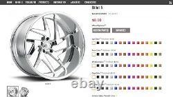 22 Pro Wheels Rims Forged Billet 5 Rose Gold Custom Offset