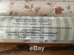 4 Rolls Vintage Waverly Wallpaper 576304 Cream Pink Green Small Flower Rose USA