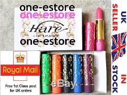 6 Matte Waterproof Magic Moroccan Lipstick Original Hare Pink Stain Gloss Green