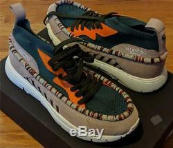$945 Mens Valentino Garavani Wallaby Sock-Knit Sneakers Green/Pink 43 US 10