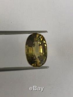 9.30 Ct Ceritified Natural Alexandrite, Color Changeyellow-green To Orange-pink