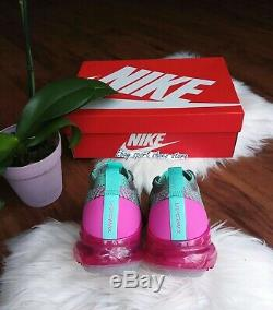 9.5 women's Nike air VAPORMAX Flyknit 3 pink green multicolor running CI7577 001