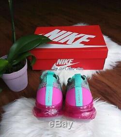 9 women's Nike air VAPORMAX Flyknit 3 pink green multicolor running CI7577 001