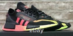 Adidas Nmd R1 V2 Shoes Black / Pink / Green Fy5918 New Mens Nmd R1
