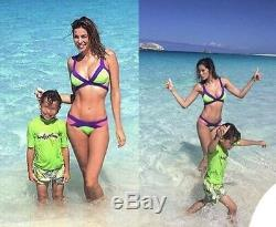 Agent Provocateur Mazzy Purple/Pink/Green Bikini Set AP 2 UK 8/10 BNWT