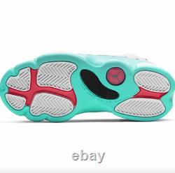 Air Jordan 13 Retro Soar Green White Pink Unisex Kids 439669 100 SIZE 11.5c