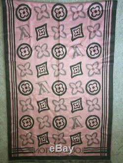 Alpha Kappa Alpha Authentic Louis Vuitton Monogram Pink/Green Stole Scarf Shawl