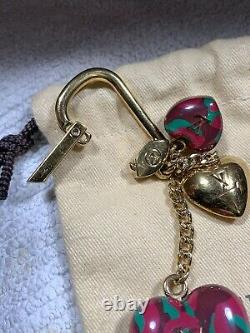 Auth LOUIS VUITTON Heart Bag Charm Key Chain, purchased new, great condition