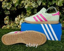 BNWB & Genuine adidas originals Stadt Trainers Glow Green & Pink UK Size 8