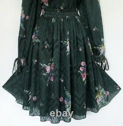 BNWT Ted Baker Dress TB 5 (UK 16) Sofiya Green Pink White Gold Metallic Thread