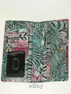 BRAHMIN Retired Ltd Ed SOLANDRA FLORAL Pink and Green ASHER TOTE and WALLET NWT