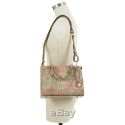 Brahmin Anywhere Convertible Sandstone Marble Pink Mint Green Croc Leather