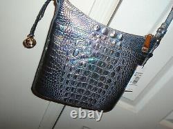Brahmin Katie Mother Of Pearl Iridescent Pink Blue Purple Green Crossbody Bag