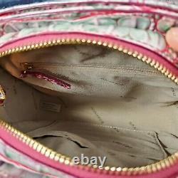Brahmin Leah Julep Pink Green White Ombre Melbourne Crossbody Bag Rare