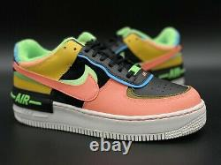 Brand New Nike Air Force 1 Low Shadow W Black/Pink/Green/Blue/White DS Sz 7