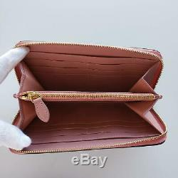 Burberry Elmore Leather Two-Tone Zip-Around Wallet Green/Pink $560