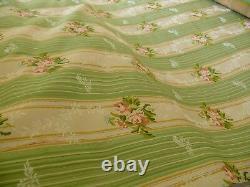 By Yd Lee Jofa Valentina Lampas Clover Green & Pink Rose Lampas Msrp$396/y