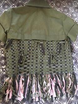 CHANEL 17C NEW Cuba Green Pink Fringed Jacket Wooded CC buttons FR34-36 $7.9 K