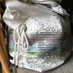 COACH Poppy Spotlight XL Tote Bag Shoulder Beige Pink Blue Green Crystals 15104