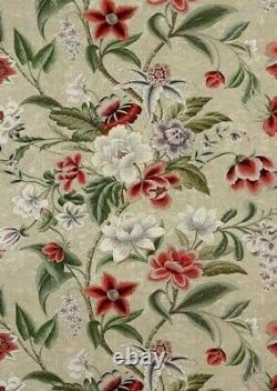 COLEFAX AND FOWLER CURTAIN FABRIC DESIGN Celestine 3.9 METRES PINK/GREEN