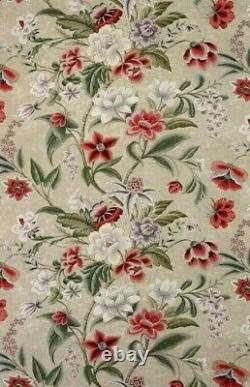 COLEFAX AND FOWLER CURTAIN FABRIC DESIGN Celestine 6.6 METRES PINK/GREEN