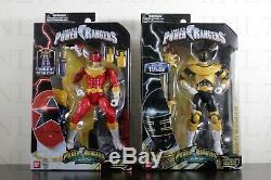 COMPLETE SET 6 Power Rangers ZEO Legacy Red Green Gold Blue Pink Yellow Ranger