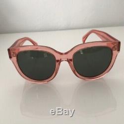 Celine Audrey 41755 Sunglasses in Opal Pink / Green Lenses