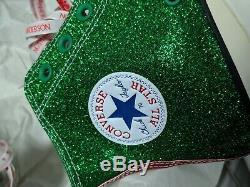 Converse Run Star Hike Hi x JW Anderson Glitter Pink Blue Green Mens8US/UK7/9.5W