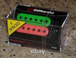 Dimarzio PINK & GREEN Steve Vai Evo Evolution Bridge Pickup fits IBANEZ JEM RG