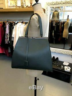 FENDI 100% Auth 3jours Forest Green/Pink Lined Large Tote Shopper Bag BNWT! $3k