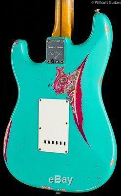 Fender Custom Shop 1957 Strat Heavy Relic Seafoam Green over Pink Paisley (951)