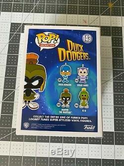 Funko Pop Marvin The Martian 143 SDCC Pink Exclusive 2500 pcs RARE orange green