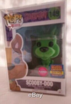 Funko Pop! SDCC 2017 Flocked Scooby Doo #149 Blue, Pink, Green Set. Mint