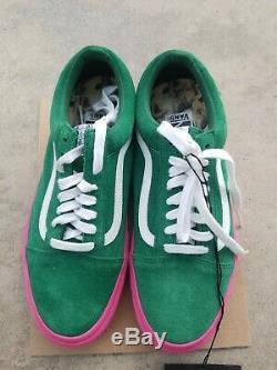 Golf Wang Vans Old Skool Pro S Green Pink Sz 7.5 Tyler The Creator Syndicate new