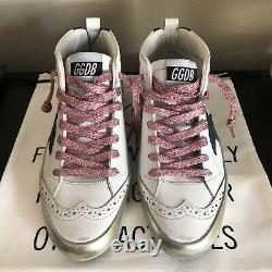 Gooden Goose Pink Gold and Green Mid Star (Size 37)
