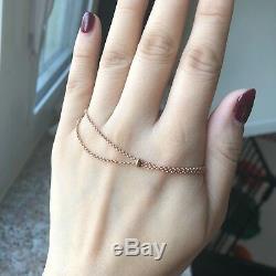 Green Malachite Popsicles Diamond Bracelet 18K Pink Rose Gold NEW