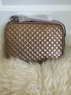 Gucci GG Trapuntata Metallic Camera Shoulder Bag Quilted Leather Crossbody