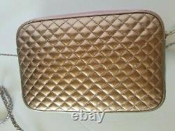 Gucci Trapuntata Medium Camera Shoulder Bag Quilted Metallic Leather Crossbody