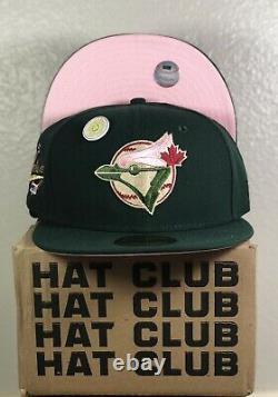 HAT CLUB EXCLUSIVE Toronto Blue Jays Green Eggs Ham 7 1/2 Pink Bottom Uv