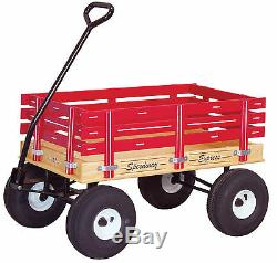 HEAVY DUTY CHILDREN'S WAGON 10 Tires 800lb Capacity RED GREEN PINK BLUE USA