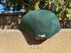 Hat Club EXCLUSIVE New Era 5950 Oakland Athletics A's Green and Pink UV Cap